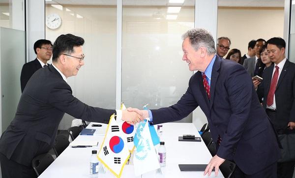 김현수 차관, UN 세계식량계획 사무총장과 면담